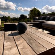 Holzterrasse Garten Luxembourg