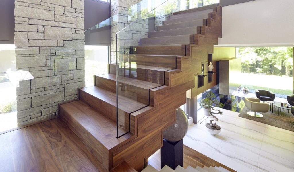 Nussbaum Beton Treppe