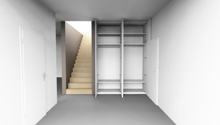 Schrank Tür weiß in weiß